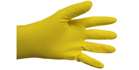 GANTS LATEX NATUREL SUEDE COT