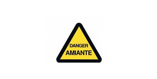 ETIQ DANGER AMIANTE TRIANGLE