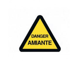 ETIQ DANGER AMIANTE TRIANGLE